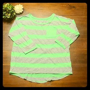Justice girls 3/4 sleeved top